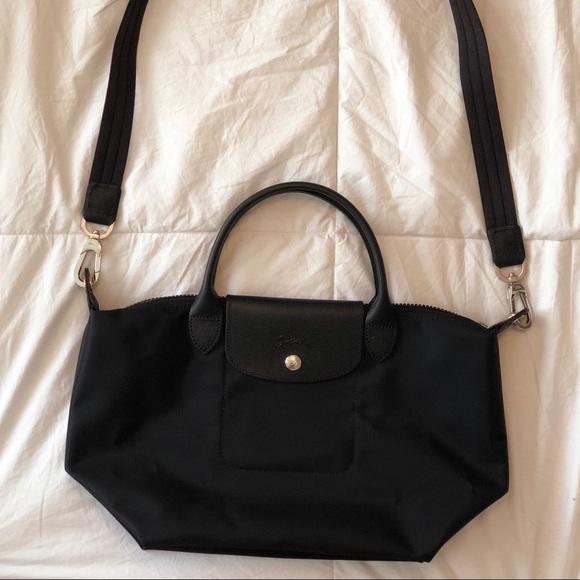 Longchamp Handbags - Longchamp Le Pliage Neo Black Shoulder Medium Tote 2cdc33290b